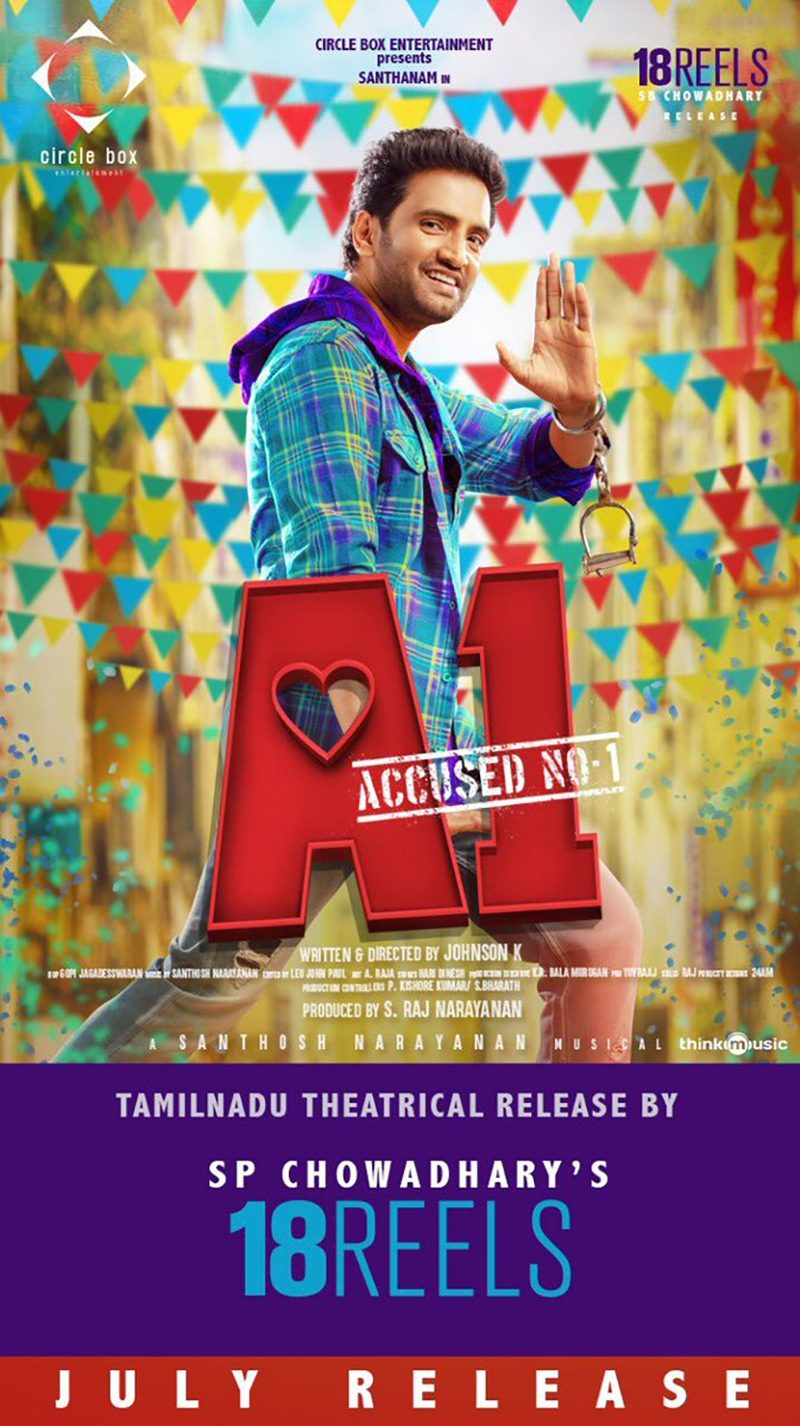A1 Tamil Movie Streaming Date on Sun NXT
