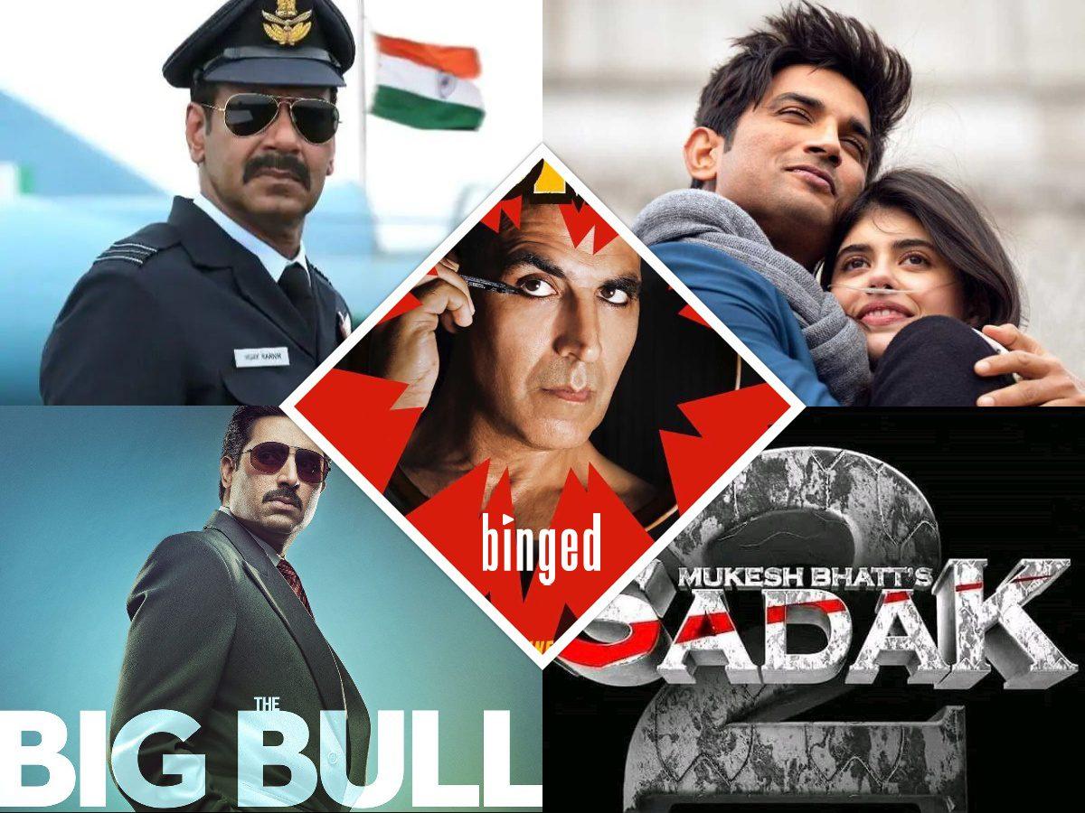 Laxmi Bomb- Bhuj- The Pride Of India, Sadak 2, The Big Bull, Dil Bechara