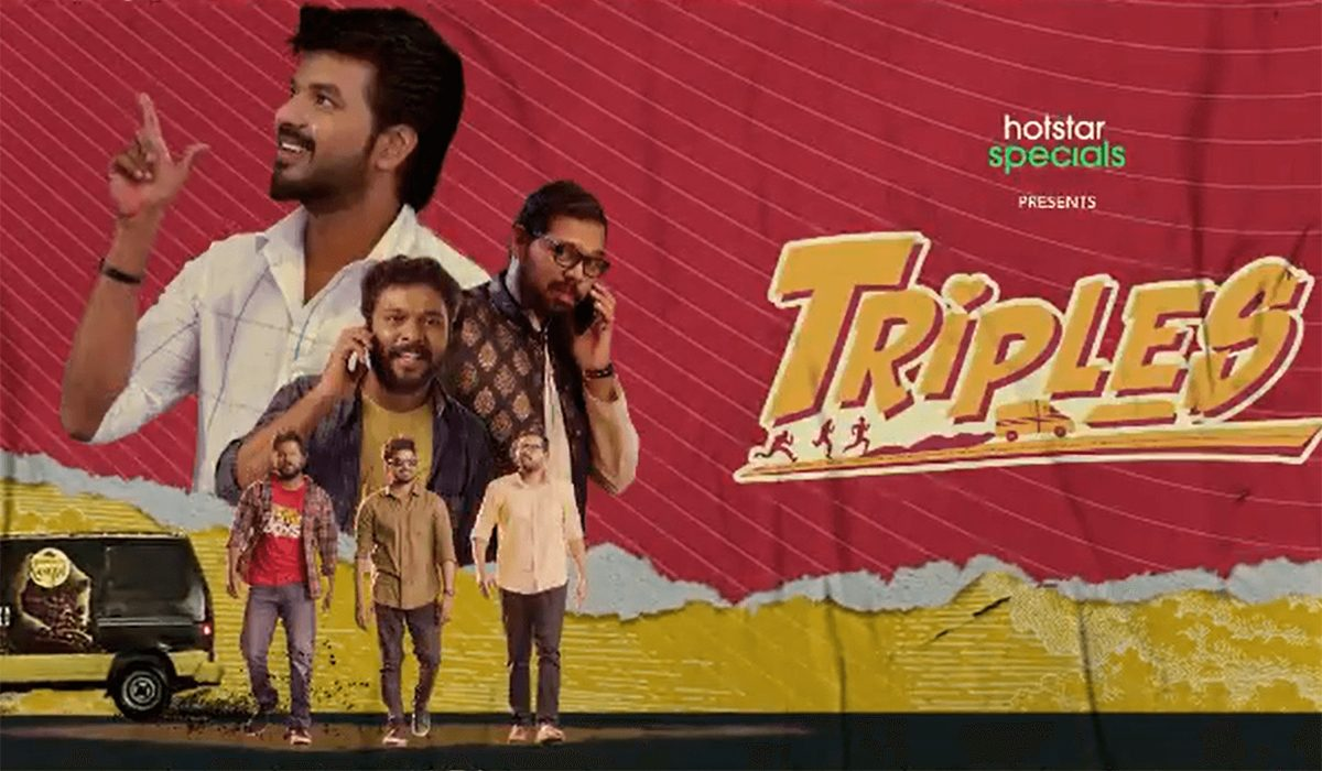 Vivek Prasanna and Rajkumar will be seen in other important roles. Triples is a story which revolves around three friends. The series would be along the lines of a Crazy Mohan comedy, the makers say. Vishal Chandrasekhar will take care of the music while Kalaiselvai Shivaji cranks the camera.
