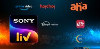 SonyLIV Tamil Telugu Amazon Prime, ZEE5, Aha Video